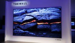 """CES 2018 – Samsung """"The Wall"""", primul televizor modular MicroLED din lume, cu diagonala de 146 inci"""