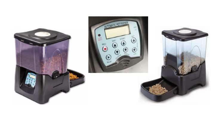 Hranim animalele intelgent folosind tehnologia - Dozator automat programabil 10 L ss