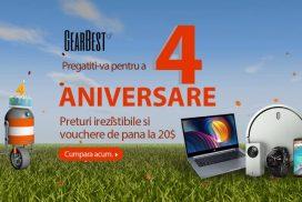 Retailer-ul chinez GearBest sarbatoreste 4 ani cu super promotii!