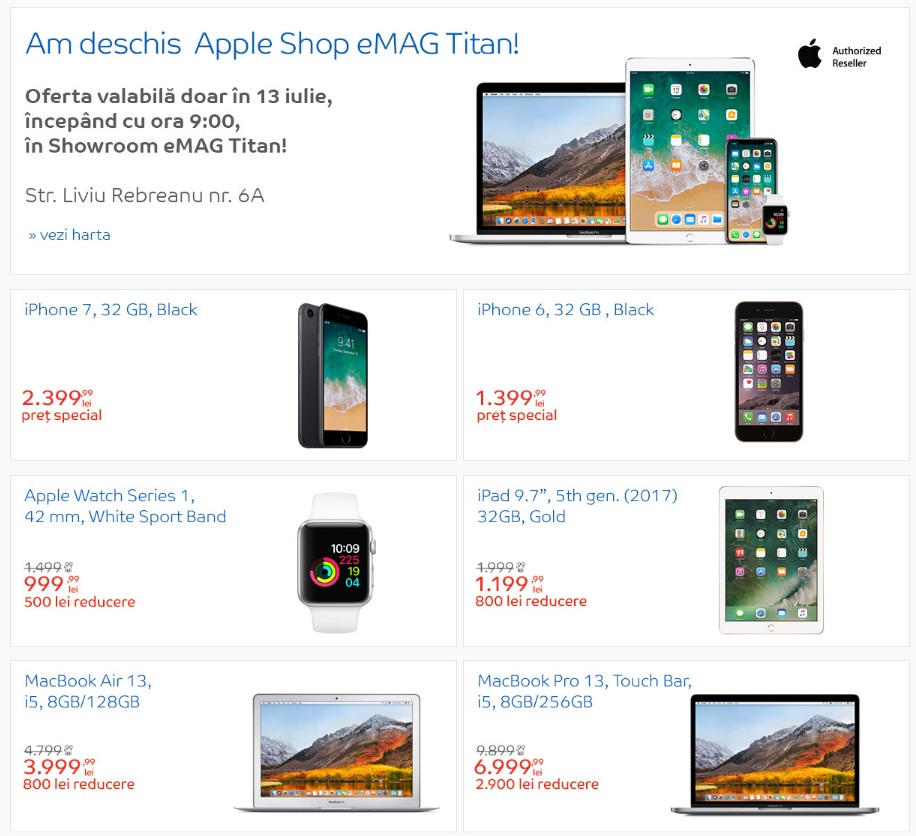 eMAG deschide un nou Apple Shop in showroomul din Titan-1