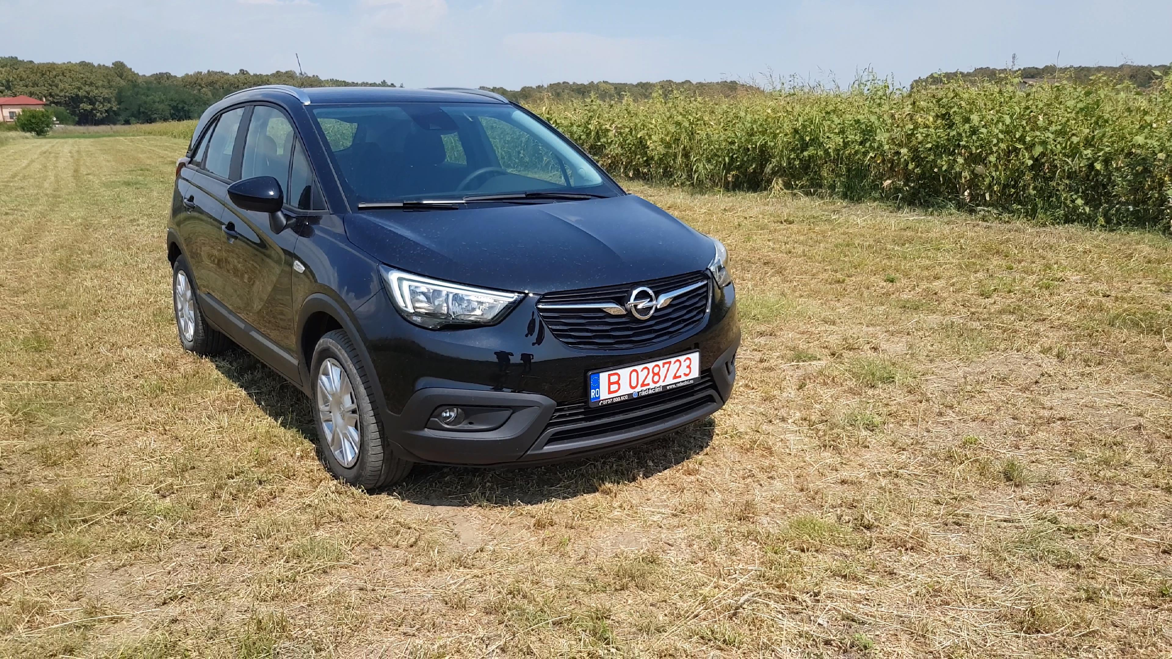 Review Opel Crossland X 2018, 12 litri Turbo, Benzina de 130 HP (Video)-fata