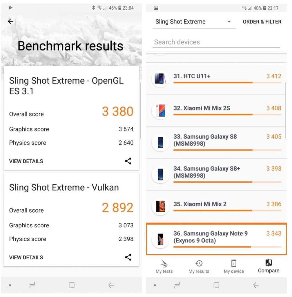 Benchmark 3DMark note9