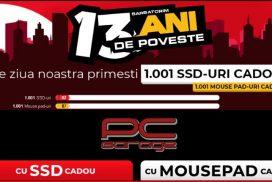 PC Garage aniverseaza 13 ani cu 1001 de SSD-uri si de MousePad-uri cadou