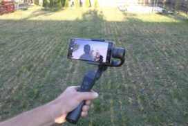 Review Stabilizator (Gimbal) HS-S5 cu 3 axe pentru telefon, de la Gearbest