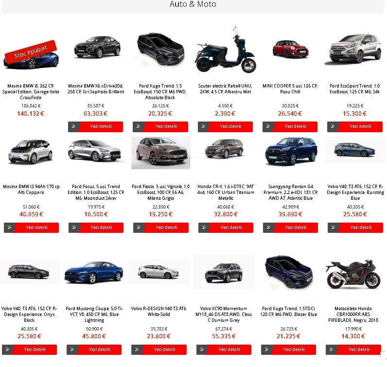 Black Friday eMAG - Oferte la masini (Ford EcoSport nu mai este in STOC!!!)