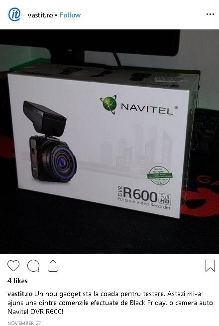 Experienta neplacuta dupa achizitia online la Altex de Black Friday-Camera auto NAVITEL R600-instagram