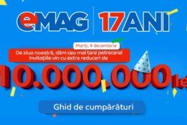 Reduceri de ziua eMAG 2018 - 17 ani