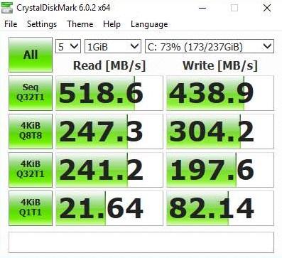 Am testat cateva jocuri cu laptopul ACER NITRO 5 (AN515-52-50YX) echipat cu placa grafica GTX 1050TI-crystaldisk