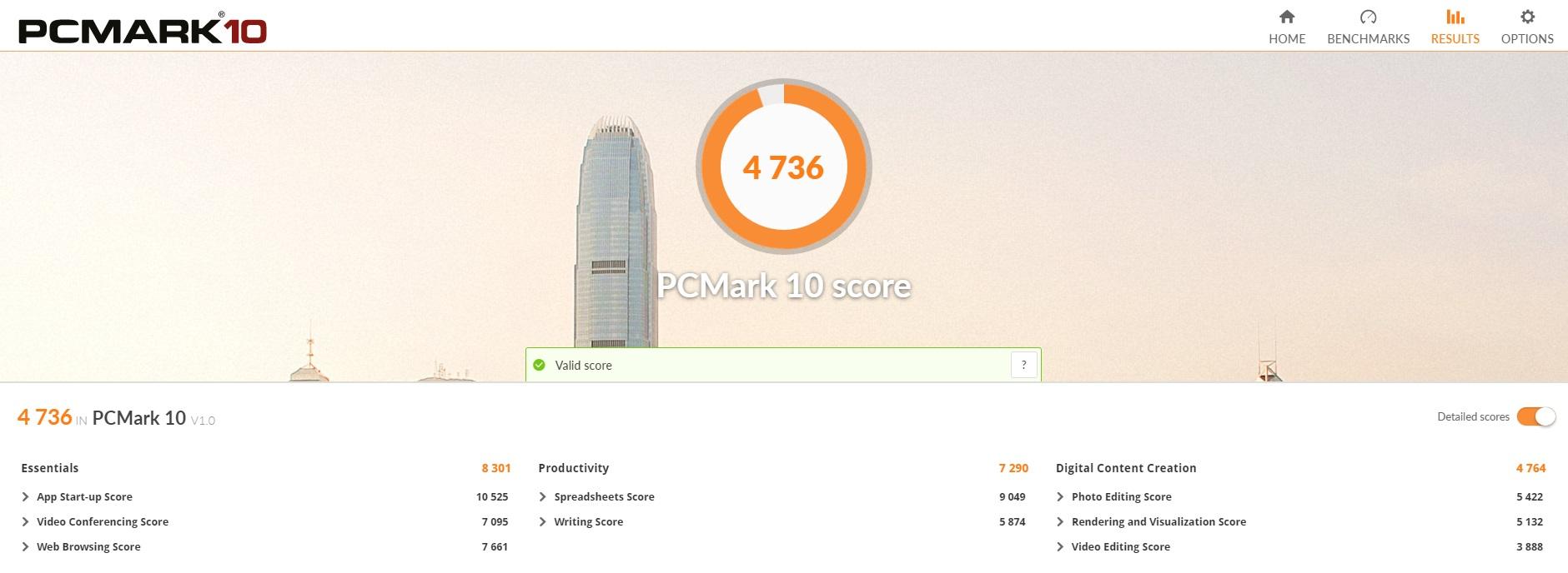 Am testat cateva jocuri cu laptopul ACER NITRO 5 (AN515-52-50YX) echipat cu placa grafica GTX 1050TI-pcmark10