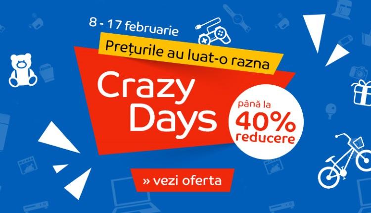 Cateva oferte bune de Crazy Days la eMAG-8 februarie 2019