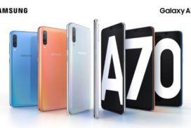 Samsung Galaxy A70 cu baterie de 4,500 mAh si senzor de amprenta integrat in ecranul Infinity-U de 6,7 inci