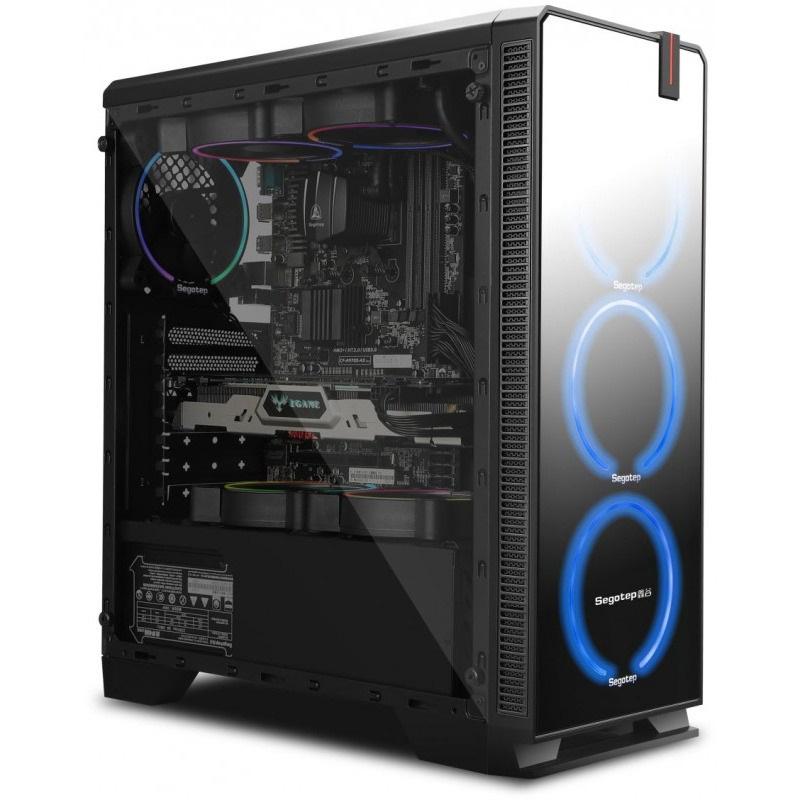 PCGarage iti da gratuit carcasa Segotep Halo 7 Plus daca cumperi un procesor, o placa de baza si o placa video