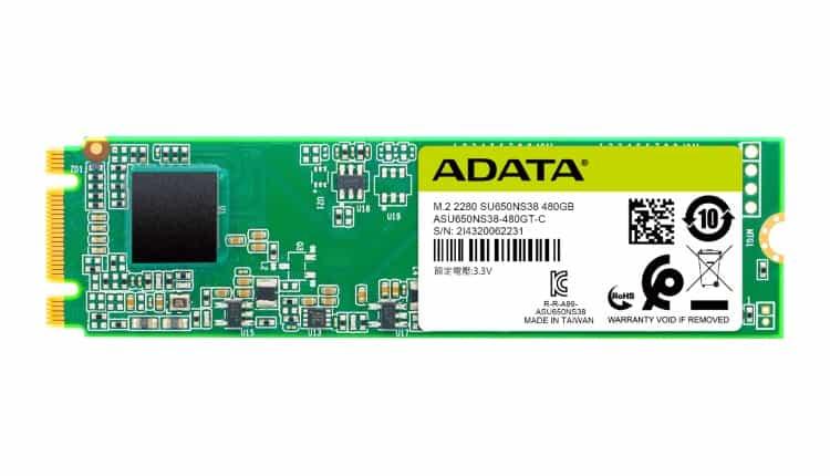 ADATA a lansat SSD-ul Ultimate SU650 M.2 2280 SATA 6Gbps