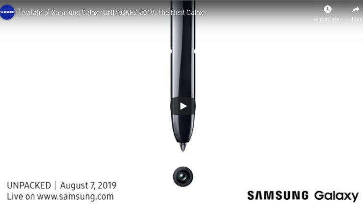 Samsung Galaxy Note10 va fi lansa pe data de 7 August