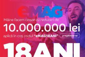 Reduceri de ziua eMAG 2019 - 18 ani (majorat)