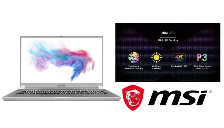 MSI Creator 17, primul laptop cu ecran Mini LED