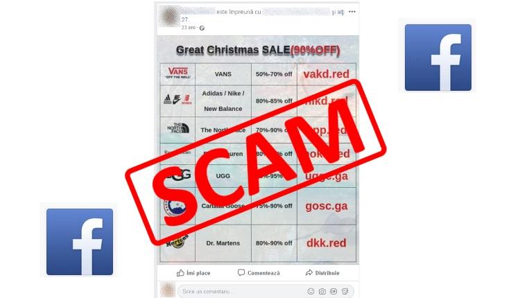 SCAM pe Facebook Greate Chrismas SALE-ss