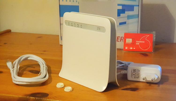 Router 4G ZTE MF255V, cu internet fix prin 4G de la Vodafone-ss