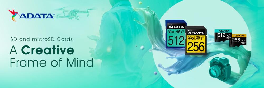 ADATA lansează campania 'Build to Create' în care prezintă produsele pentru creatorii de conținut-Memory-card