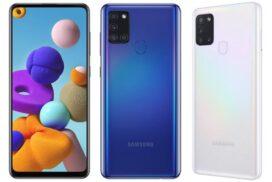 Samsung lansează Galaxy A21s cu un ecran Infinity-O și o cameră foto quad