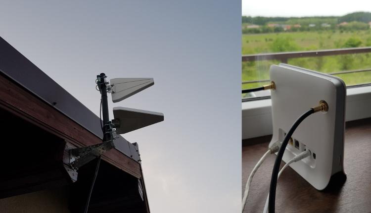 Mi-am instalat antena 4G LTE ALP (800-3000MHz) externa pentru roterul ZTE MF255V de la Vodafone-ss