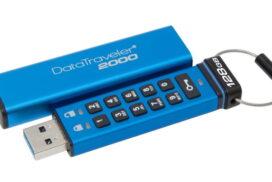 Kingston DataTraveler 2000 - memorie USB de 128GB cu criptare şi taste alfanumerice