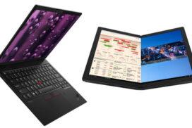 Lenovo Thinkpad X1 Nano cel mai usor (doar 907g) iar Thinkpad X1 Fold este primului PC pliabil din lume ce il poti comanda