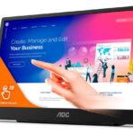 """AOC 16T2 este noul monitor portabil de 15,6"""" cu touchscreen în 10 puncte şi cu o baterie de 8000 mAh"""
