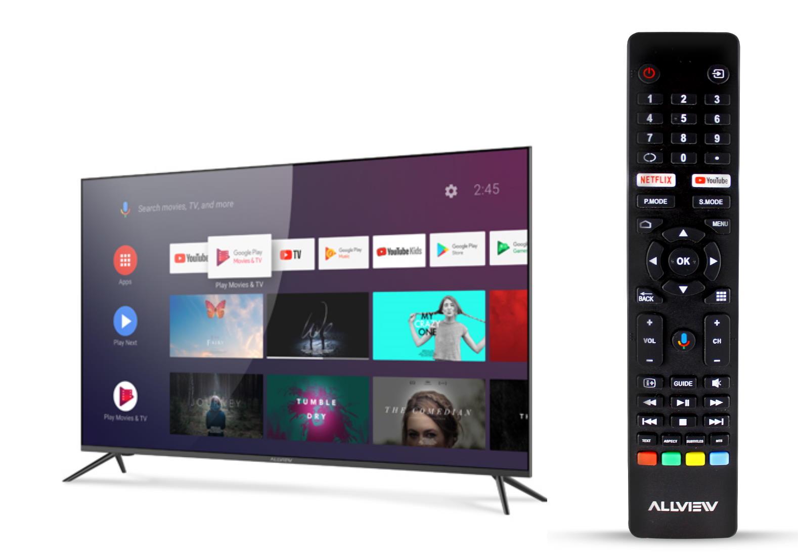 Allview lansează primele modele QLED cu Android TVcu diagonala de 50 inci si 65 de inci-telecomanda